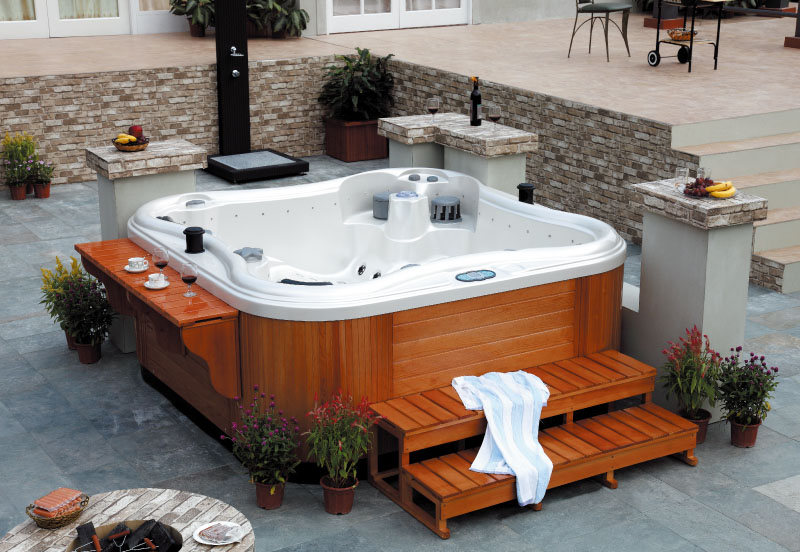 outdoor whirlpool aussenwhirlpool spa hot tub. Black Bedroom Furniture Sets. Home Design Ideas